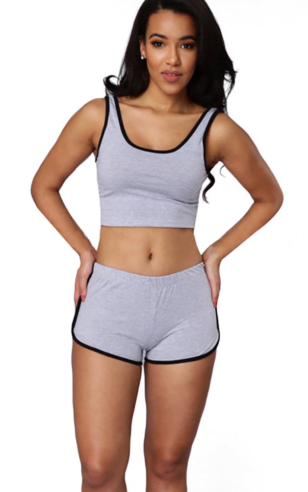 10f9500f8f3b8 Honofash Tracksuit Women Set Girl 2 Piece Yoga Gym Tank Crop Top ...